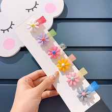Fashion Flower Baby Hair Clips For Girls Daisy BB Hairpins Lucency Toddler Pins Kids And Accessories