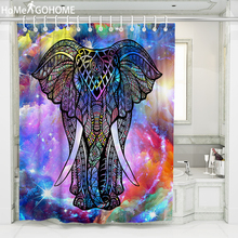 Ombre Galaxy Shower Curtains 3D Elephant African Curtain for Bathroom Bath Moldproof Waterproof Fabric tenda doccia Large