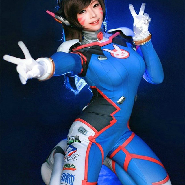 Dva Cosplay Costume Game Female Adult Child Lycra 3D Printing Spandex Halloween for Women Party Zentai Suits D.Va Anime Cosplay 2