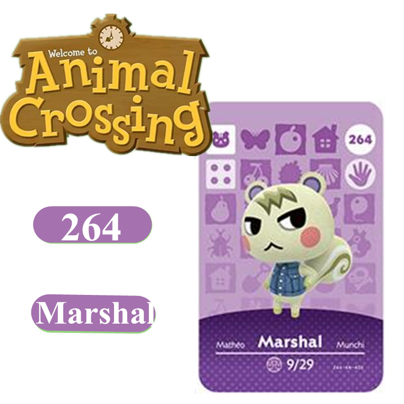 Animal Crossing Card Amiibo 264 Marshal NFC Card For Nintendo Switch NS Games Series 1 2 3 4