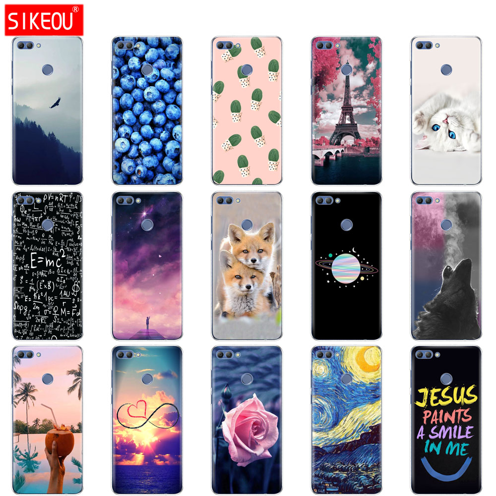 silicone <font><b>case</b></font> for <font><b>huawei</b></font> Y9 <font><b>2018</b></font> <font><b>case</b></font> soft tpu cover for <font><b>huawei</b></font> Y 9 <font><b>2018</b></font> FLA-AL20 Print Painted Shells Bags Fundas image