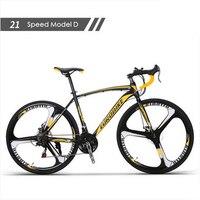 Neue marke carbon stahl rahmen 700C rad 21/27 geschwindigkeit disc bremse rennrad outdoor sport radfahren bicicletas racing fahrrad-in Fahrrad aus Sport und Unterhaltung bei