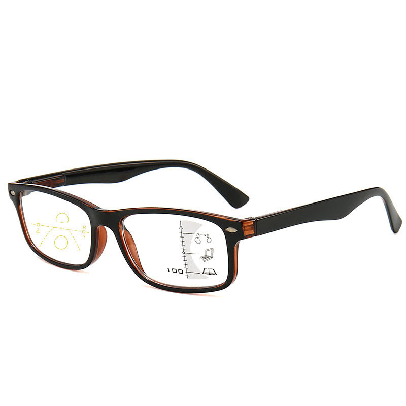 New Reading Glasses Progressive Multifocal Bifocal Women Men Magnifying Presbyopic Glasses Anti Blue Light Square Multi Layers