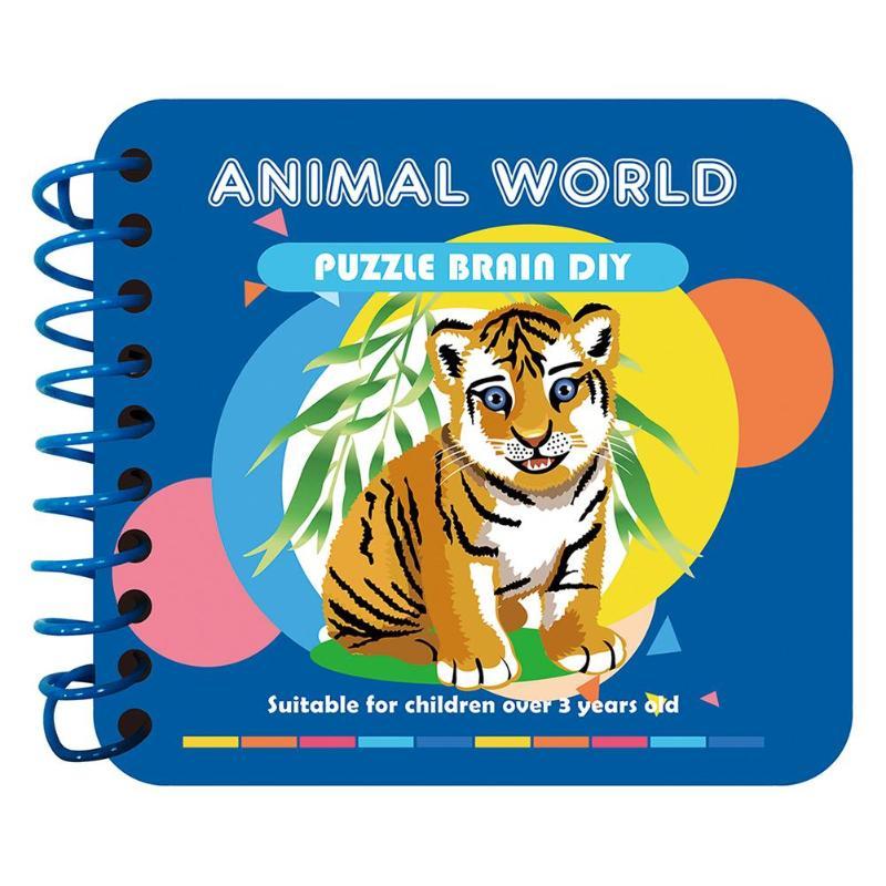 Diamond Painting Card Books Animal Fruit DIY Kids Knowledge Learning Cardboard Part Drill Handmade Puzzle Readings