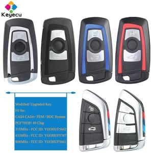 Image 1 - KEYECU Smart Remote Control Key With 3 Buttons PCF7953 Chip   FOB for BMW FEM BDC CAS4 CAS4+ X3 F25 X4 F25 M2 F87 M3 M4 F80 F82