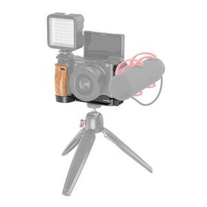 Image 5 - Smallrig L Beugel Plaat Met Houten Handvat Voor Sony A6400/A6300/A6100 Arca Swiss Standaard L plaat Montageplaat 2331