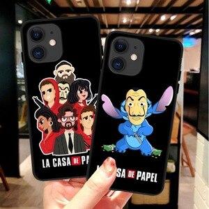 Spanish TV series La casa de papel black Soft Silicone TPU Phone Case For iPhone 11 Pro MAX 5s Se 6 6s Plus 7 8 Plus X XR XS MAX(China)