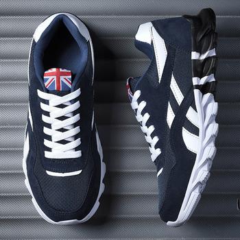 Męskie buty do biegania 2020 mężczyźni sportowe trampki jakości męskie buty do biegania sznurowadła sportowe trampki trener buty sportowe rozmiar 39-46 tanie i dobre opinie WIENJEE CN (pochodzenie) Inne Zapewniające stabilność Na betonową podłogę Początkujący oddychająca latex Siateczka (przepuszczająca powietrze)