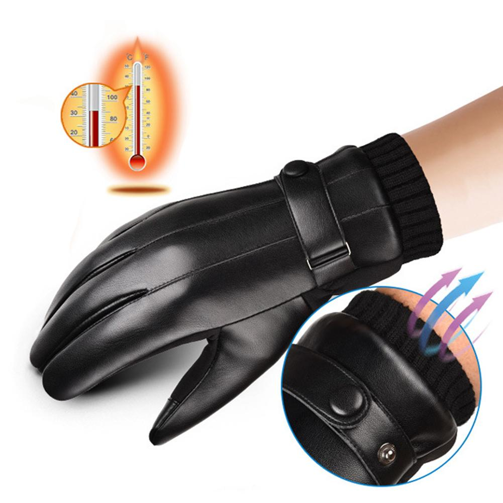 Motorcycle <font><b>Gloves</b></font> Waterproof Heated Guantes <font><b>Motor</b></font> Touch Screen Battery Powered Motorbike Racing Riding <font><b>Gloves</b></font> Winter image