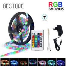 RGB LED şerit 15M 20M Led ışık bant SMD 2835 5M 10M DC 12V su geçirmez RGB LED LED ışık diyot şerit esnek denetleyici