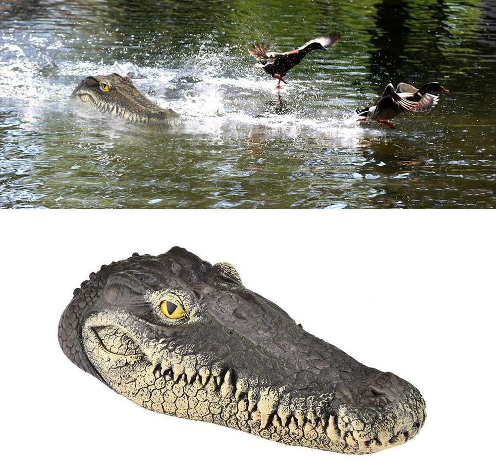 Floating Alligator Head Decoy, Deter Animals Solution Float Gator for Pool Pond Garden Defender Decoration