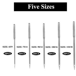 50pcs Five Differernt Size Sewing Needles Embroidery Hand Sewing Clothes Knitting Craft Needles Kit Accessories