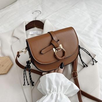 New Autumn Women Shoulder Bag PU Leather Solid Small Handbags Designer Crossbody Bags for Women sac a main