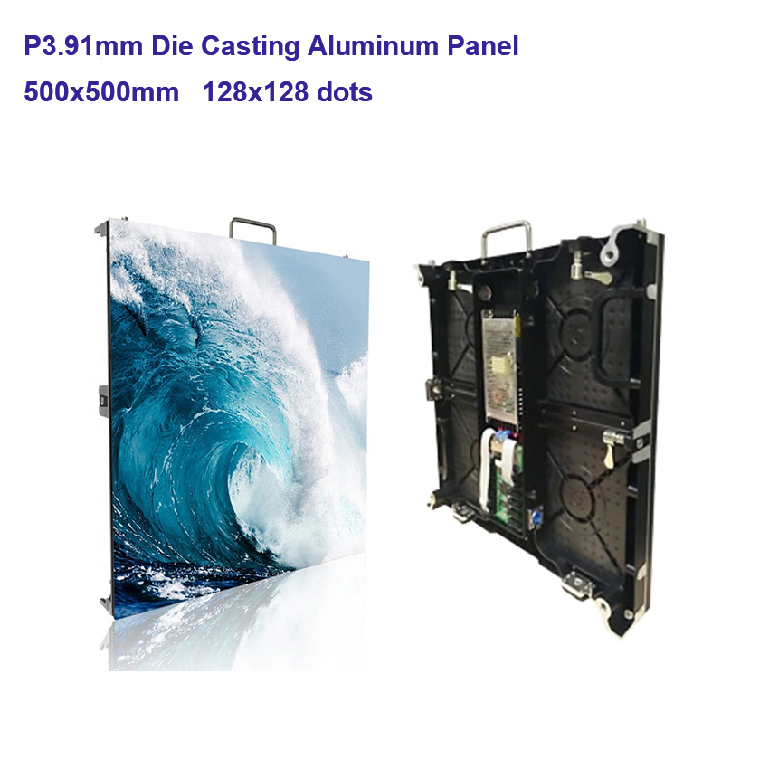 128*128dots 500x500mm P3.91 SMD2121 Indoor Die Cast Aluminum Cabinet RGB LED Display For Advertising Video Wall Led Screen