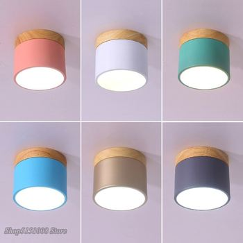 Modern Ceiling Lights LED Spot Light Iron Wood Ceiling Lamp for Bedroom Living Room Kids Room Aisle Corridor Home Fixture round square led ceiling lights for living room lights bedroom home white and black iron acrylic modern led ceiling lamp fixture