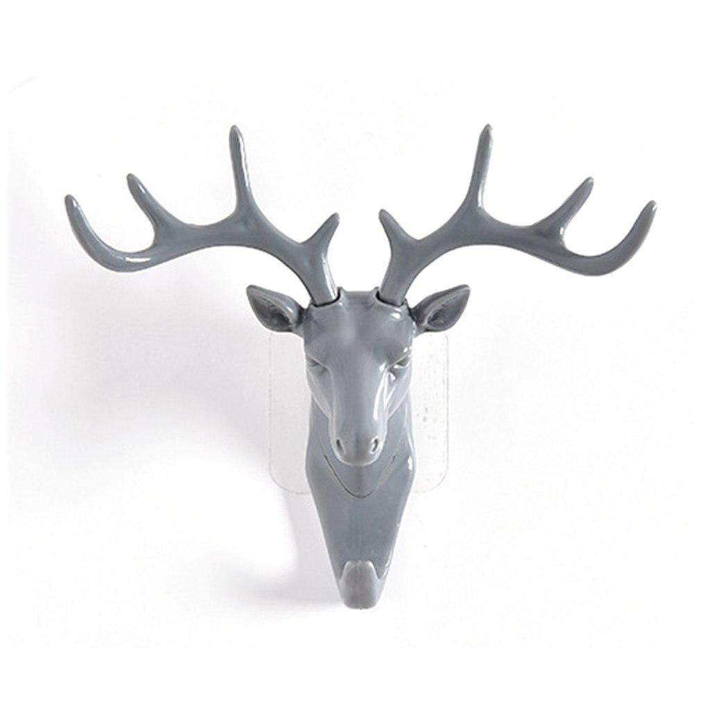 Wall Hanging Hook Vintage Deer Head Antlers For Hanging Clothes Hat Scarf Key Deer Horns Hanger Rack Wall Decoration Dropship