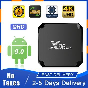 X96 MINI TV Box Android 9.0 S905W QHD Smart TV Box 1+8G 2+16G 2.4G WiFi Super Fast No App Included X96mini Android TV Box