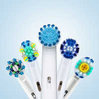 Oral B Electric Toothbrush heads Replacement attachments brush Spare parts 4Pcs/Pack Precision Clean Cross Action 3D White