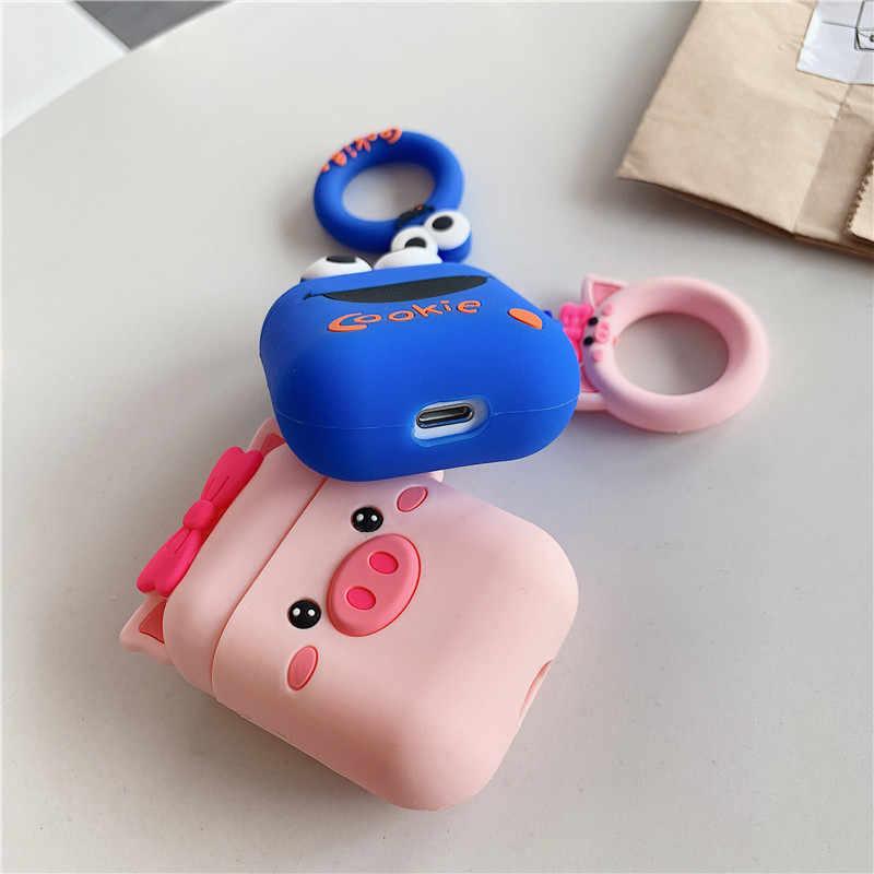 かわいいエルモクッキー Airpods ケースシリコーンフル保護 Airpods Bluetooth i9 ため i12 TWS 空気ポッドヘッドホンボックス