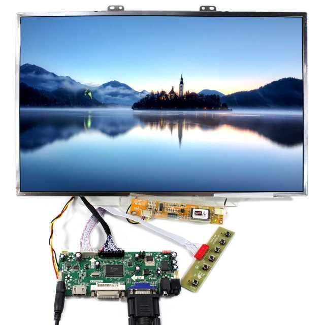 "Kit voor CLAA154WB05AN/CLAA154WB05A DVI HDMI 1280X800 VGA Scherm Driver 30pin Controller board Display 1 lampen LVDS 15.4"""