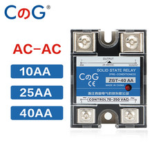 CG SSR-10AA 25AA 40AA SSR Monofase JGX AC Controllo AC Dissipatore di Calore 70-280VAC Per 24-480VAC 10A 25A 40A AA relè A Stato solido