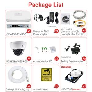Image 5 - Dahua Kit de cámara CCTV de seguridad, 4MP, 8 + 4, cámara IP de NVR4108 8P 4KS2, IPC HDBW4433R ZS, ZOOM 5X, P2P, juegos de vigilancia, fácil de instalar