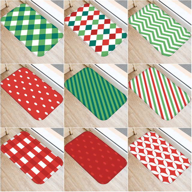 Геометрический узор решетки нескользящий декоративный ковер для спальни кухонный пол для гостиной коврик для ванной нескользящий коврик 40x60 см.