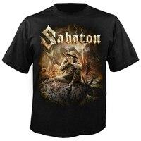 Dubbele Officiële Licentie Sabaton De Grote Oorlog T-shirt Power Metal Mannen Vrouwen Unisex Fashion Tshirt