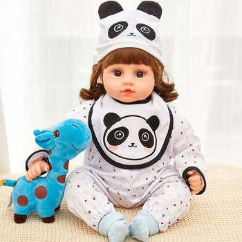 45cm Electric Baby Full Silicone Crying Bebe Doll Long Hair Reborn Toddler Dolls Laughing  Toys Lifelike Real Gift - discount item  30% OFF Dolls & Accessories