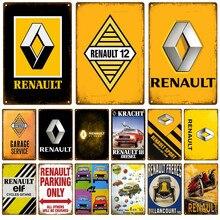 Renault 12 placa de metal do vintage estanho assinar pino up shabby chique decoração metal sinal do vintage barra decoração metal cartaz pub placa de metal