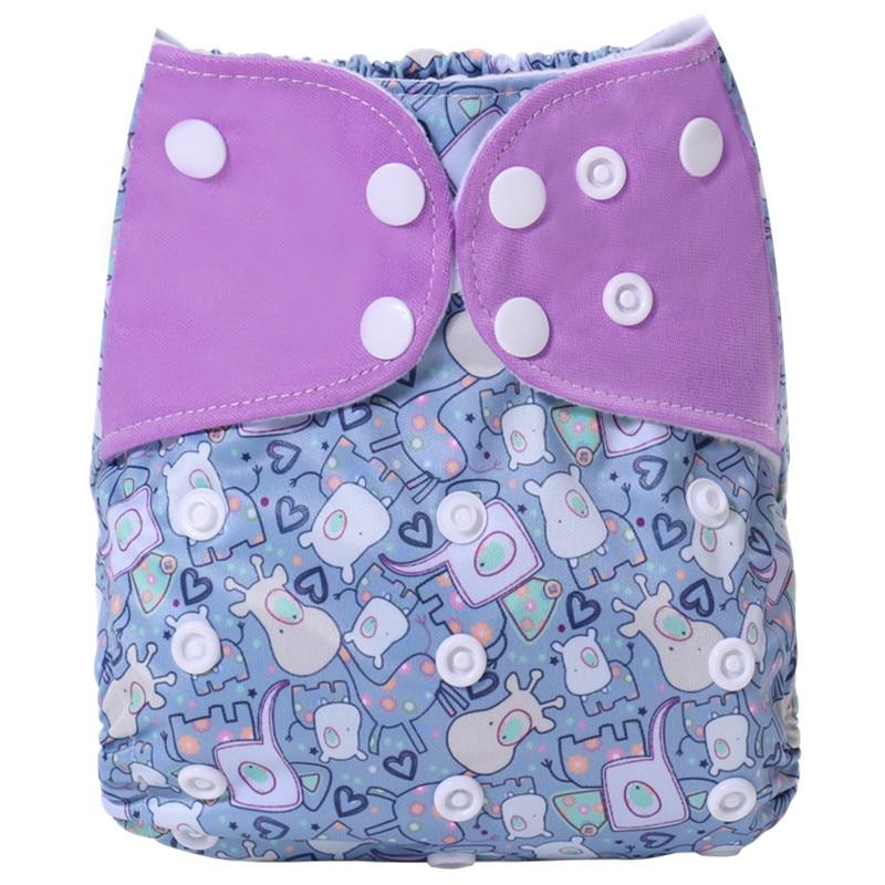 [Simfamily] 1 шт., новинка, Многоразовые водонепроницаемые детские тканевые подгузники с цифровым принтом, регулируемые детские подгузники, подходят для детей 0-3 лет, 3-15 кг - Цвет: NO23