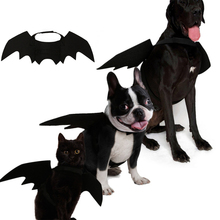 Halloween Pet Costume Cat Bat Wings Collar Harness Decor Puppy Pet Cat Black Bat Dress Up Funny Wing Cat Clothes Christmas Gifts