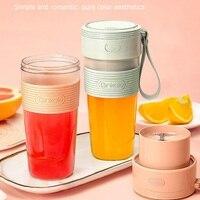 Taza de zumo portátil y ligera, multifunción, con carga USB, resistente al agua, de grado alimenticio, para fruta, taza de zumo pequeña