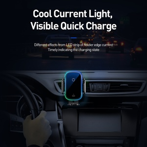 Image 5 - Baseus 15W Qi Car Wireless Charger Dual Mode Intelligent Infrared Fast Wireless Charging Car Mount for Air Car Phone Holder