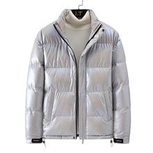 Puffer Jacket Outerwear Glossy Winter Coats Fashion Mens New Warm Male