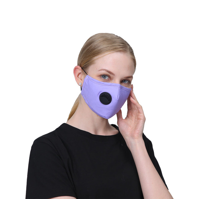 1 PCS Mouth Mask Rewashable reusable Mask with 10 PCS PM2.5  activated carbon filter Respirator for man and women adult 2