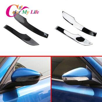 2 pçs/set Tiras de Cobertura Espelho Retrovisor Do Carro Apto Para Ford Focus 4 MK4 2019 2020 Espelho Retrovisor Capa Guarnição adesivos Acessórios