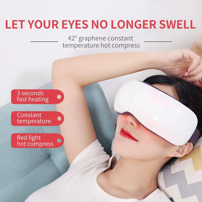 Интеллектуальный массажер для глаз Электрический портативный USB Перезаряжаемый Регулируемое давление защита глаз с подогревом давление в... - 3
