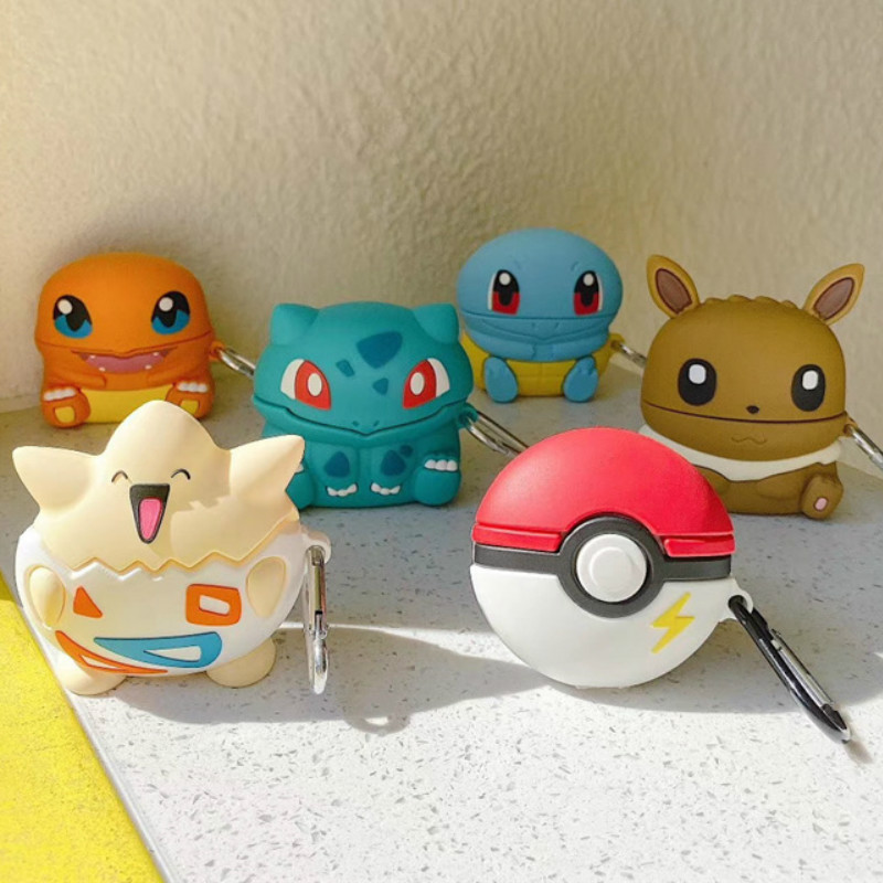 Bluetooth Earphone Case For Airpods Pro Cute Silicone Accessories Protective Cover For AirPod 3 Cartoon Bulbasaur Eevee Togepi