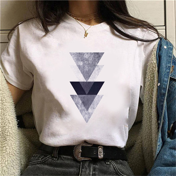 Beautiful geometry printed t shirt women 90s Graphic T-shirt Harajuku Tops Tee Cute Short Sleeve animal tshirt Female Tshirts 9