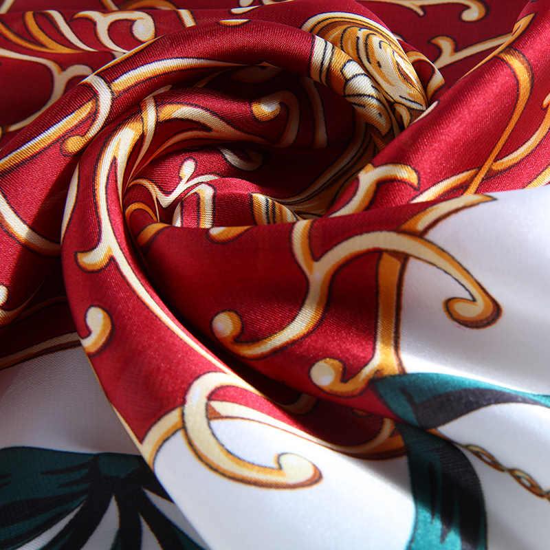 Nuovo Arrivo 2019 Accessori delle Donne Della Sciarpa di Lusso Multifunzionale del Legame Dei Capelli Fascia per la Testa di Elegante Scialle Delle Signore Sciarpe di Seta Bandane