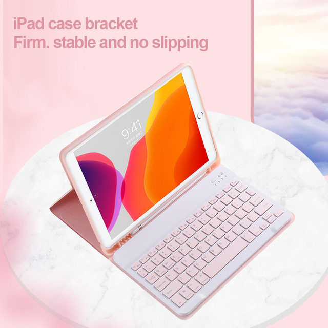 For iPad 9.7 2017 2018 2019 10.2 5th 6th 7th Generation Bluetooth Keyboard Mouse Case for iPad Air 1 2 3 Pro 9.7 10.5 11 Cover 4