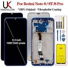 """Tela de 6.3 """"para xiaomi redmi note 8 8t, display lcd + digitalizador de toque lcd para redmi note 8 8t 8 pro"""