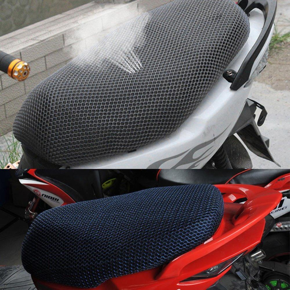 Motorcycle Seat Cover Anti-Slip Waterproof 3D Scooter Moped Breathable Mesh Net Seat Cushion Motorcycle Accessories Universal
