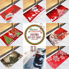 Merry Christmas Rug Anti-Skid Polyester Kitchen Rug Area carpet  Soft Snowman Deer Home Decoration Living Room Tea Table Bed Bedroom Xmas Mat vintage printing anti skid indoor outdoor area rug
