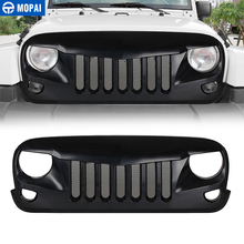 MOPAI Racing Grills for Jeep Wrangler JK ABS Car Front Mesh Grille Decoration Cover Accessories 2007-2017