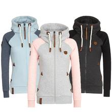 Plus rozmiar 5XL obszerna bluza z kapturem bluzy damskie swetry damskie patchworkowe polarowa kurtka z kapturem kurtka jesienny ciepła bluza z kapturem tanie tanio MANLEY ARTY COTTON Poliester CN (pochodzenie) Zima REGULAR Pełna Suknem Zip-up WOMEN Na co dzień Osób w wieku 18-35 lat