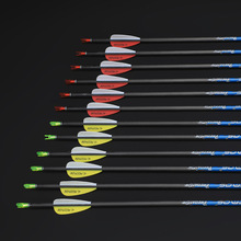 12pcs ID 4.2mm Pure Carbon Arrow Spine 300 350 400 500 600 700 800 900 1000 Archery Recurve Bow or Compound Bow Shooting