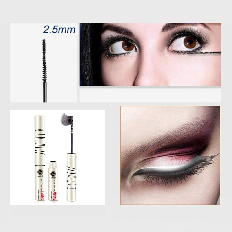 New hot long curly curling mascara waterproof and sweat thick and not blooming 2.5mm fine brush makeup cosmetics TSLM1