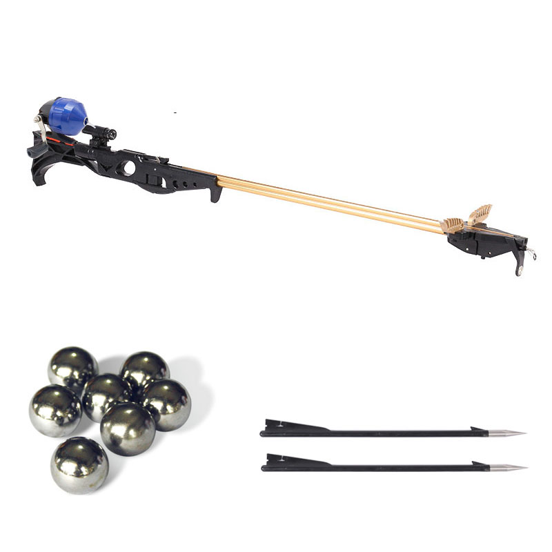 Flying Eagle Slingshot Hunting Fishing Bow Catapult Support Fishing Reel Multi-function Steel Ball Ammo Arrow Shooting Rod